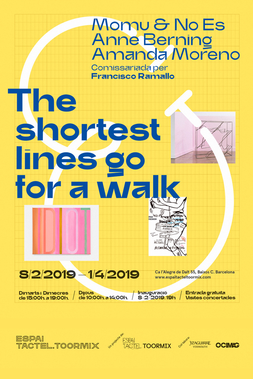 The shortest lines go for a walk